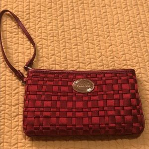 The Sak Red Ribbon Wristlet